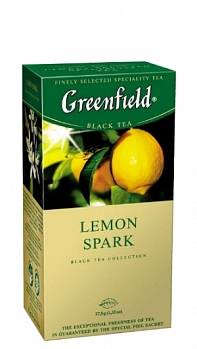 GREENFIELD Lemon Spark, 25 пак.