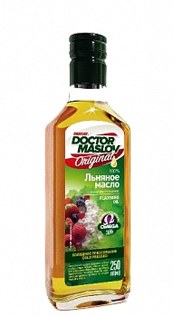 "Масло льняное ""Doctor Maslov. Original"" 250г, стекло"